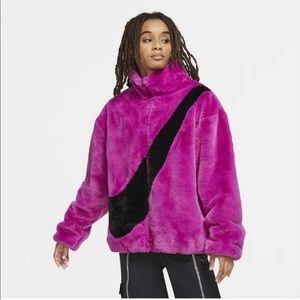 NWT Nike faux fur jacket so small